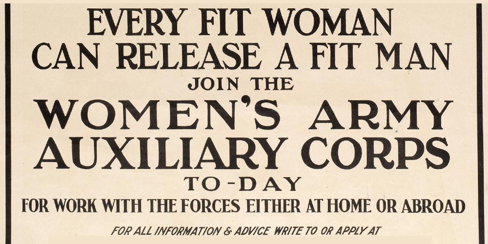 A WAAC recruiting poster
