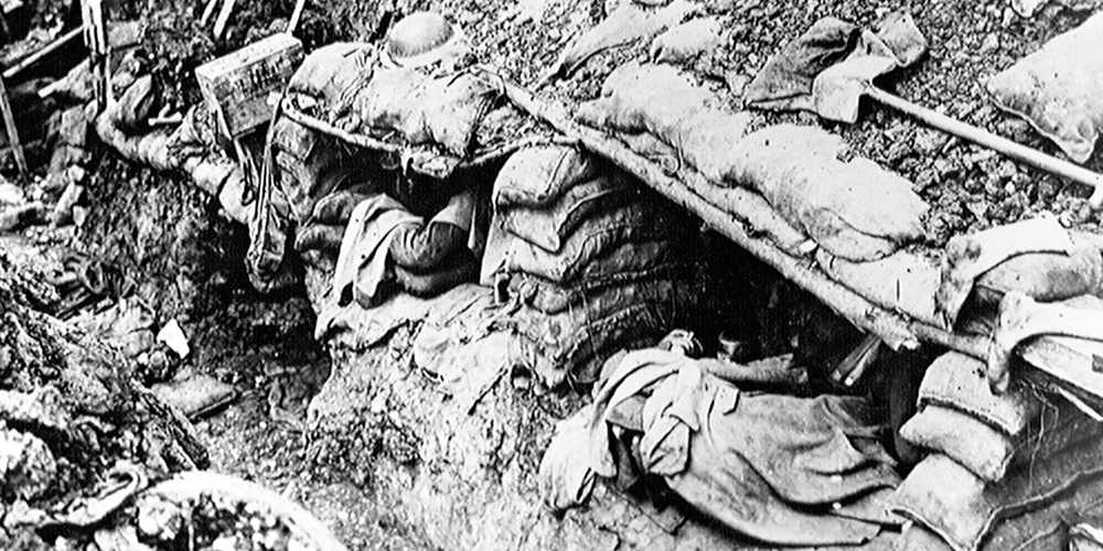 Soldiers in their Trench Beds