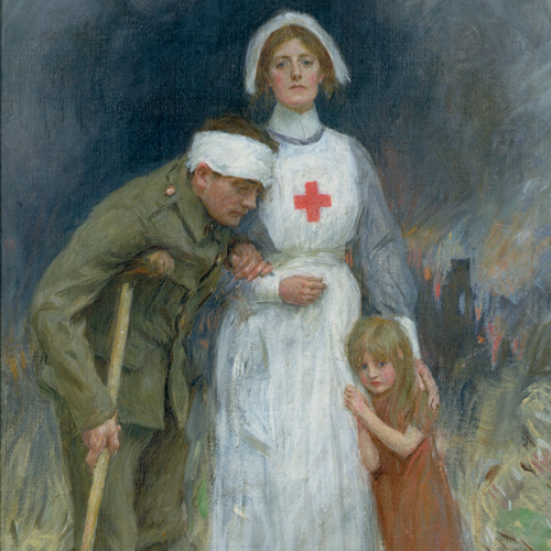 Nurse, soldier, child