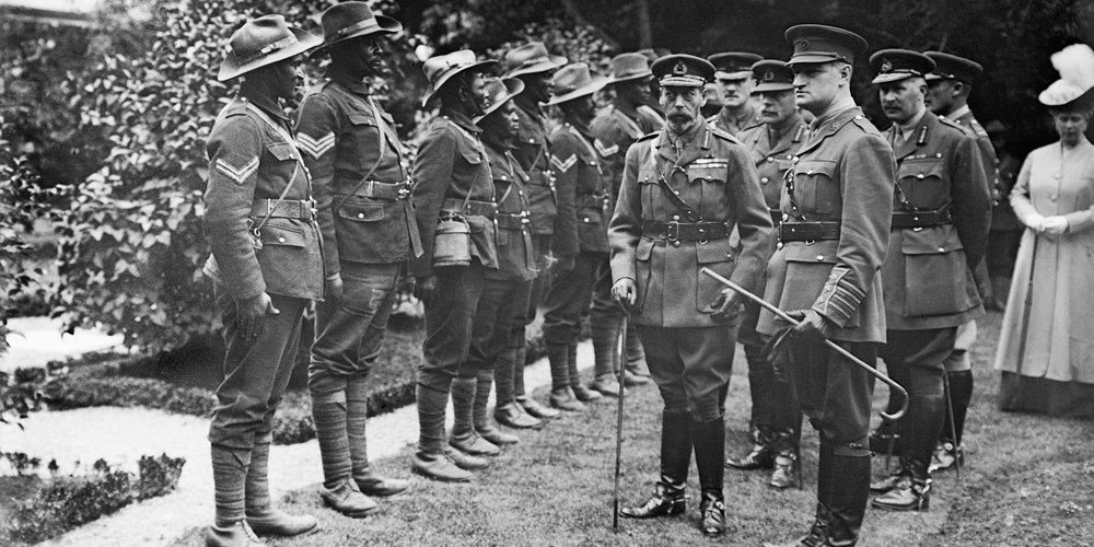 George V inspecting Troops